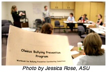 Olweus Bullying Prevention Program training session at Arizona State University